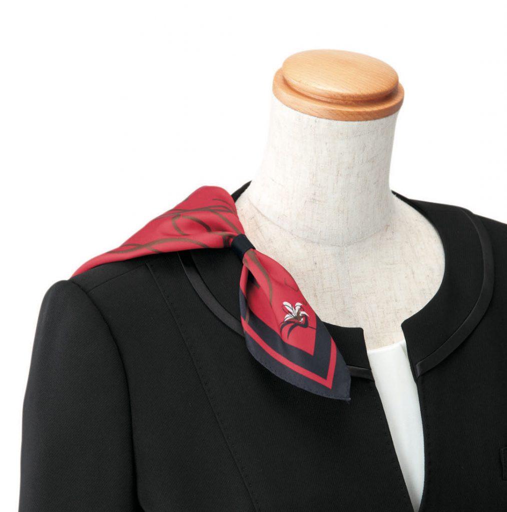 スカーフループ ノーカラージャケット